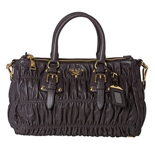 Prada 'Gaufre' Graphite Nappa Leather Tote Bag