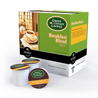 Green Mountain Coffee Decaf Breakfast Blend K-Cups for Keurig Brewers (Case of 96)