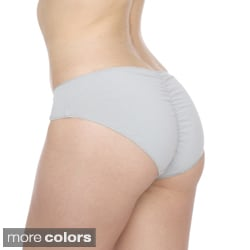 American Apparel Women's Cotton Spandex Jersey Shirred Back Panty
