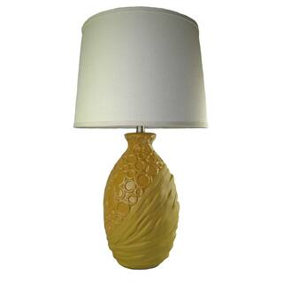 JT Lighting' Sarah' Yellow Ceramic Lamp