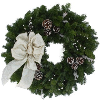 Winter Elegance 24-inch Balsam Wreath