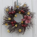 Apple Blossom 22-inch Twig Maine Balsam Wreath