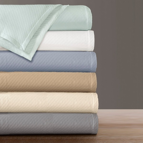 Premier Comfort Liquid Solid Colored Woven Cotton Blanket