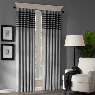 Madison Park Canyon Grey / Black Window Panel Pair