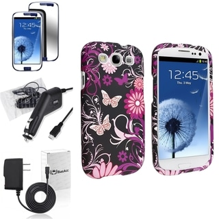 INSTEN Phone Case Cover/ Screen Protector/ Chargers for Samsung Galaxy S3