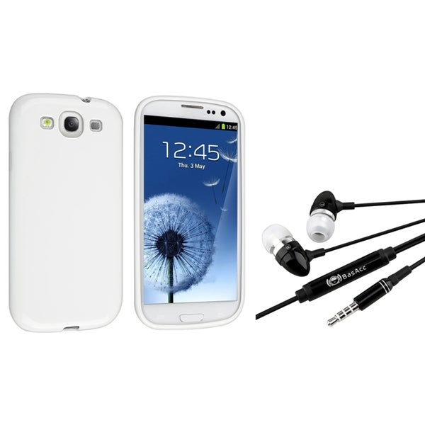INSTEN White Jelly TPU Case Cover/ Headset for Samsung Galaxy S III/ S3