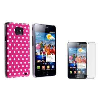 BasAcc Polka Dot IMD Case/ Protector for Samsung Galaxy S II/ S2 i9100