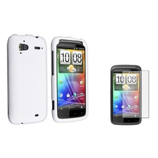 BasAcc White Snap-on Case/ Screen Protector for HTC Sensation 4G