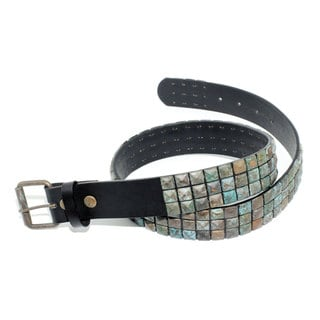 Toneka Antique Pyramid Stud Men's Belt
