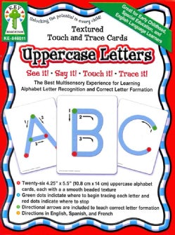 Textured Touch and Trace Uppercase Letters: The Best Multisensory Experience for Learning Alphabet Letter Recognition... (Cards)