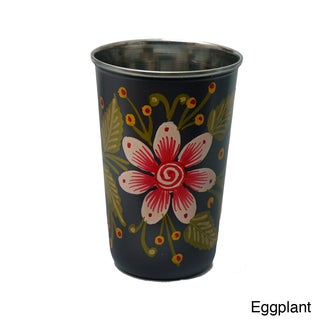 Hand-painted Metal Vase (India)