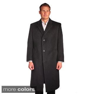 Jean Paul Germain Men's Wool/Cashmere Blend Sander Coat