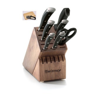 Wusthof Classic Ikon 8 Piece Knife Block Set With Bonus Board & Sharpener - 9908