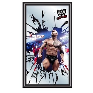 WWE The Rock Framed Logo Mirror