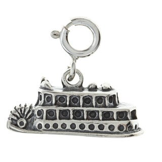Sterling Silver Riverboat Charm