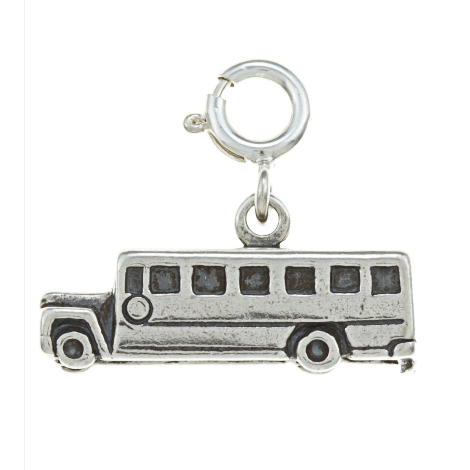 Overstock.com Sterling Silver School Bus Charm at Sears.com