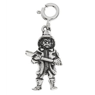 Sterling Silver Fireman Charm