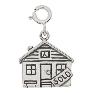 Sterling Silver House Sold Charm