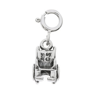 Sterling Silver Wheelchair Charm