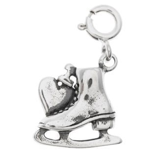 Sterling Silver 'I Love Ice Skating' Charm