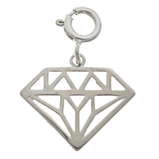 Sterling Silver Cut-Out Diamond Charm