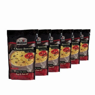 Crown Canyon Cheesy Broccoli Soup Mix Pouch (Pack of 6)