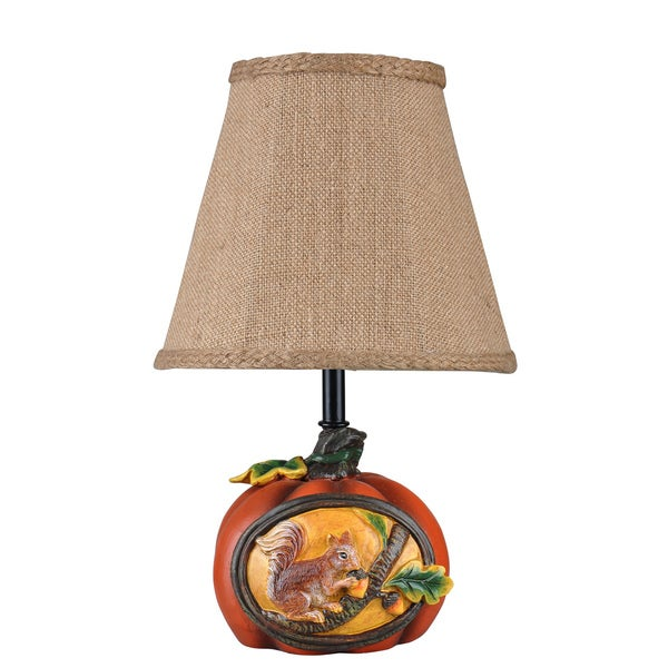 Somette Squirrel's Retreat Multi-colored Accent Lamp