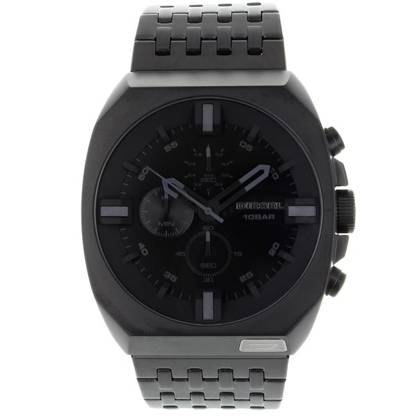 Diesel Men's Classic Black-Dial Chronograph Stainless-Steel Watch