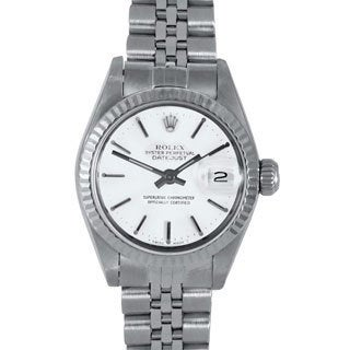 White Dial Jubilee Pre-owned Rolex Women's Stainless Steel Datejust Watch