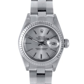 Silver Dial Oyster Pre-owned Rolex Women's Stainless Steel Datejust Watch