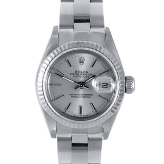 Pre-Owned Rolex Women's Silver Dial Oyster Stainless Steel Datejust Watch