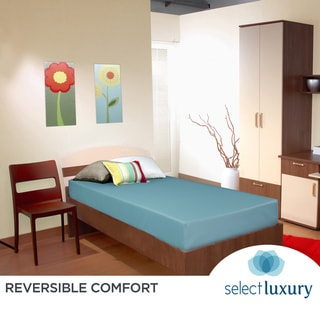 Select Luxury Blue Reversible Vinyl 6-inch Medium Firm Twin-size Foam Mattress
