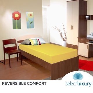 Select Luxury Yellow Reversible Vinyl 6-inch Medium Firm Twin Foam Mattress
