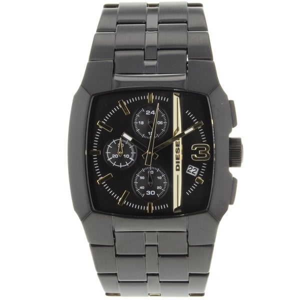Diesel Men's FZ4259 ' Cliffhanger' Black Chronograph Stainless Steel Watch
