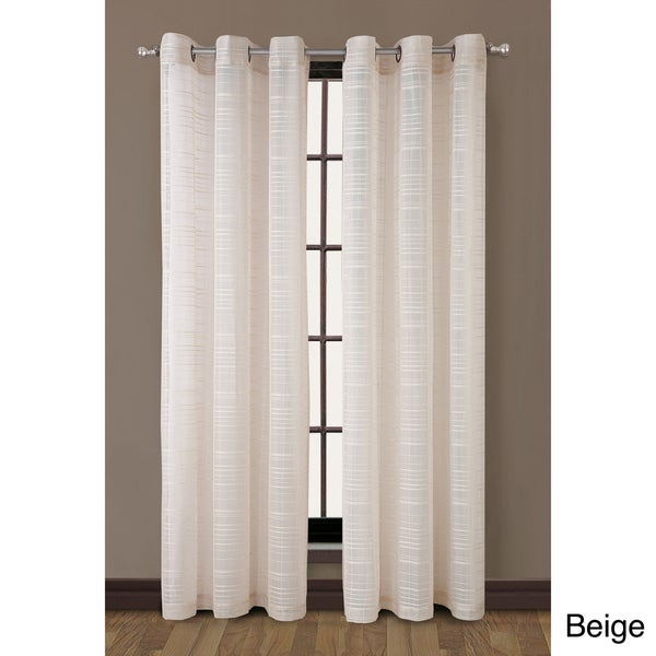 VCNY Clinton Grommet Top Stripe 84-inch Curtain Panel