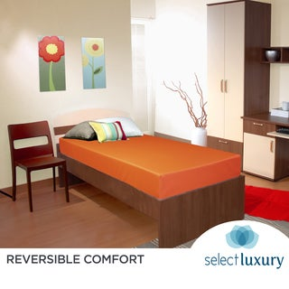 Select Luxury Orange Reversible Vinyl 6-inch Medium Firm Twin-size Foam Mattress