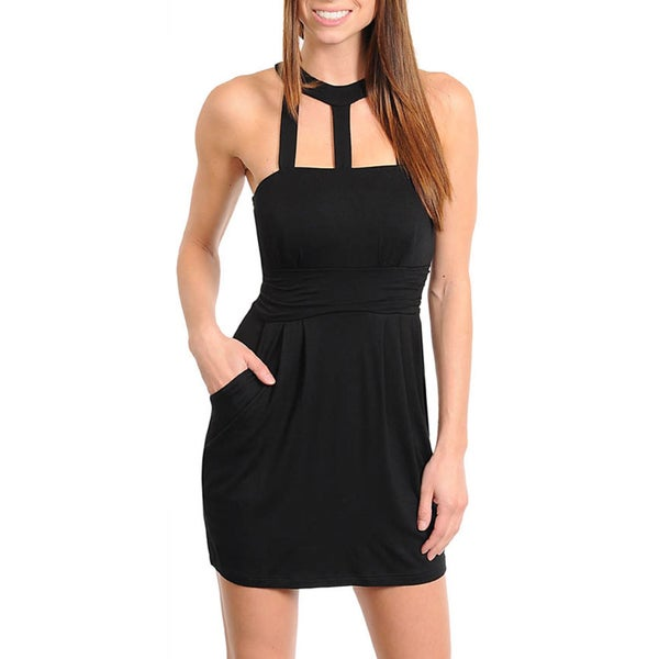 Stanzino Women's Edgy Little Black Dress