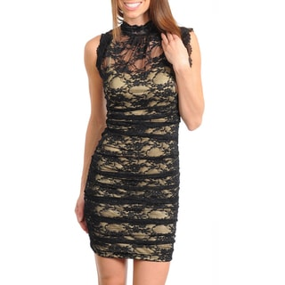 Stanzino Women's Lace Overlay Cocktail Dress