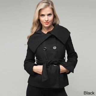 Stanzino Women's Oversized Collar Wool Blend Jacket