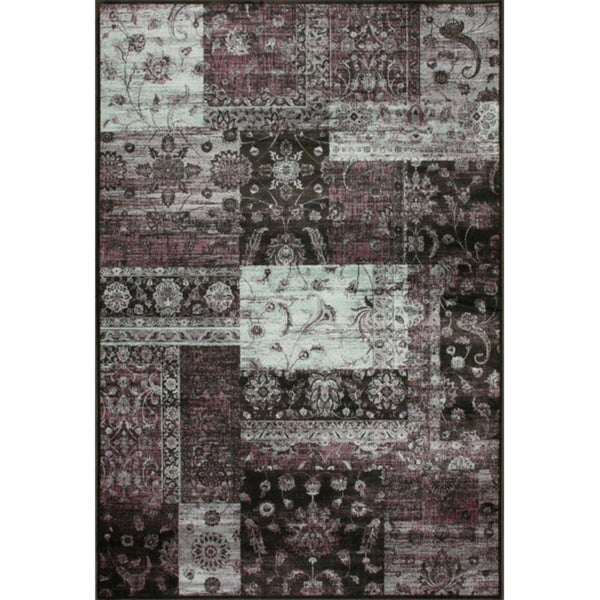 nuLOOM Patchwork Overdyed Multi Faux Silk Rug