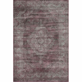 Vintage Overdyed Plum Faux Silk Rug
