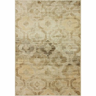 Trellis Overydyed Natural Faux Silk Rug