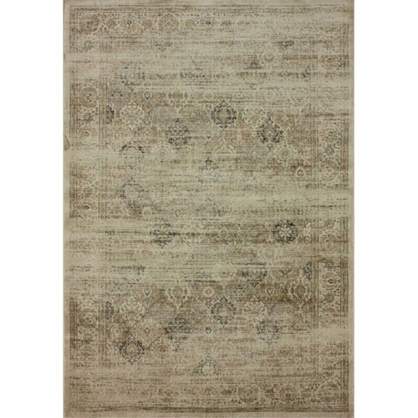 nuLOOM Vintage Overdyed Natural Faux Silk Rug