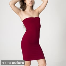 American Apparel Women's Jersey Strapless Ruched Dress