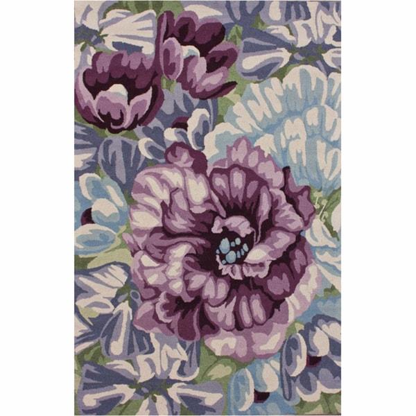 nuLOOM Handmade Floral Multi Wool Rug