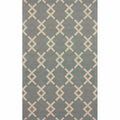 nuLOOM Handmade Trellis Light Blue Wool Rug
