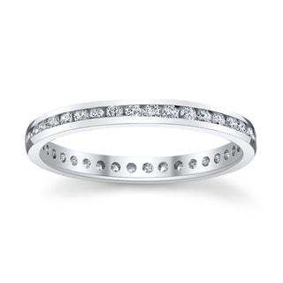 14k White Gold 1/3ct TDW Diamond Eternity Wedding Band (H-I, I1-I2)