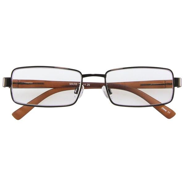 M by Max Studio Men's Brown Reading Glasses