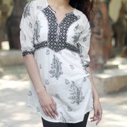 Cotton 'Mughal Glory' Beaded Blouse (India)