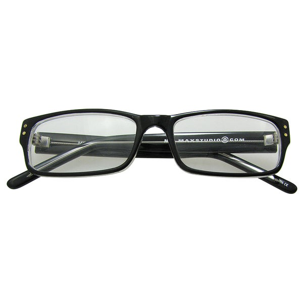 M by Max Studio Black Crystal Men's Reading Glasses